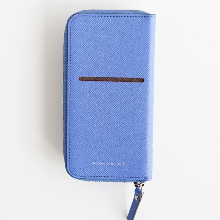 【iPhone6ケース】お財布付き手帳型ケース ZIP-Around ロイヤルブルー iPhone 6s/6_0