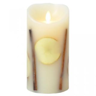 火を使わないLEDキャンドル LUMINARA ボタニカルアップルシナモンMサイズ