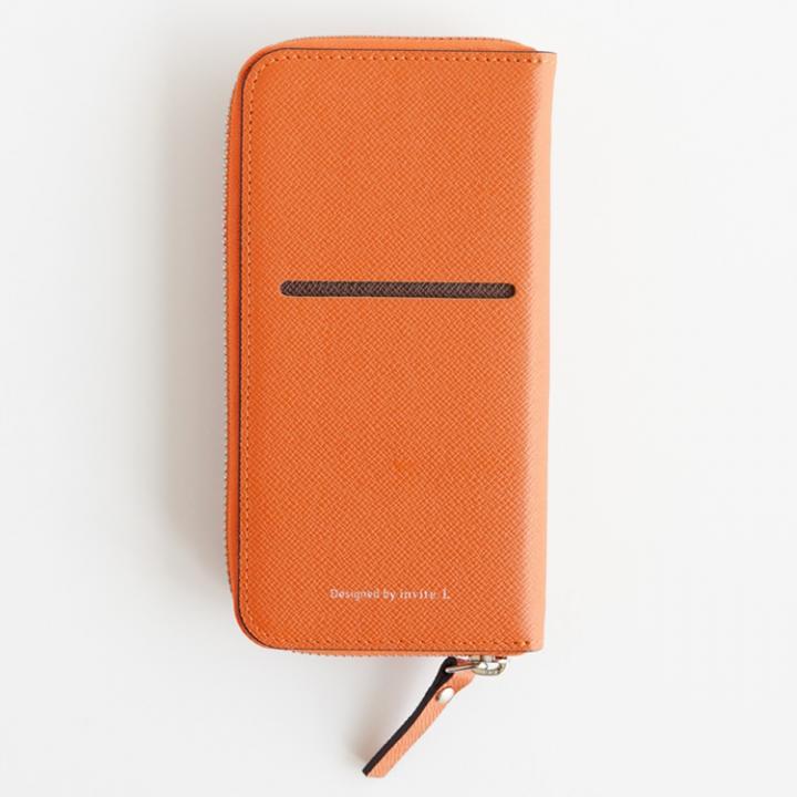 お財布付き手帳型ケース ZIP-Around オレンジ iPhone 6