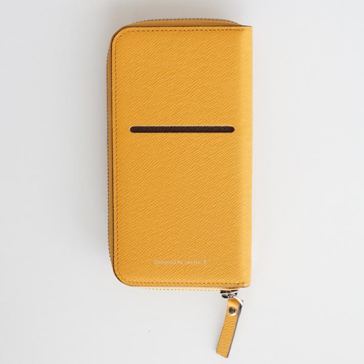 お財布付き手帳型ケース ZIP-Around イエロー iPhone 6