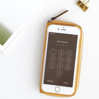 【iPhone6ケース】お財布付き手帳型ケース ZIP-Around イエロー iPhone 6_2