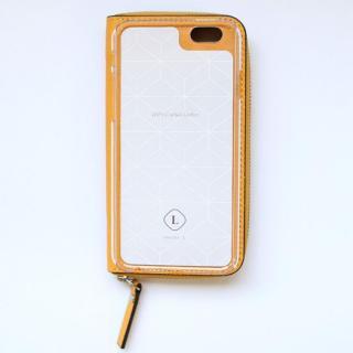 【iPhone6ケース】お財布付き手帳型ケース ZIP-Around イエロー iPhone 6_3