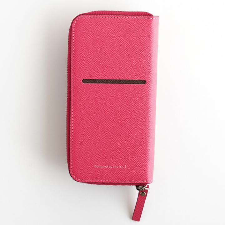 お財布付き手帳型ケース ZIP-Around ピンク iPhone 6