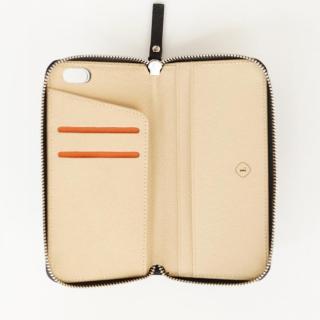 【iPhone6ケース】お財布付き手帳型ケース ZIP-Around ブラック iPhone 6s/6_1