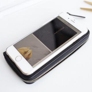 【iPhone6ケース】お財布付き手帳型ケース ZIP-Around ブラック iPhone 6s/6_2
