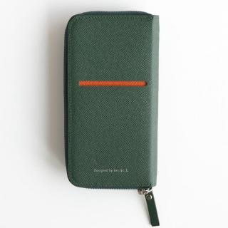 お財布付き手帳型ケース ZIP-Around ダークグリーン iPhone 6 Plus