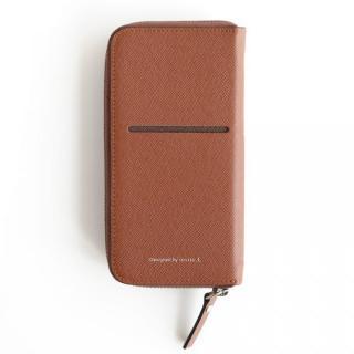 お財布付き手帳型ケース ZIP-Around ブラウン iPhone 6 Plus