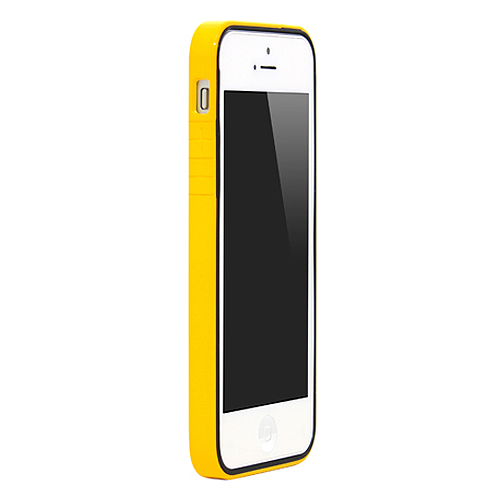 iPhone SE/5s/5 ケース B1 Bumper Full Protection  iPhone SE/5s/5 Yellow Glossy_0