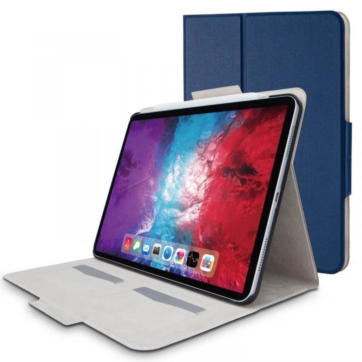 フラップケース ソフトレザー フリーアングル スリープ対応 Mサイズ ネイビー iPad Pro 2020 11インチ_0
