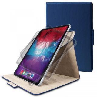 フラップケース ソフトレザー 360度回転 Mサイズ ネイビー iPad Pro 2020 11インチ