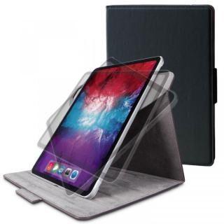 フラップケース ソフトレザー 360度回転 Mサイズ ブラック iPad Pro 2020 11インチ【5月下旬】