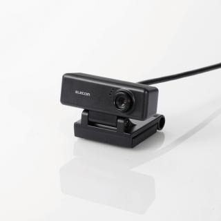 PCカメラ 100万画素 マイク内蔵 高精細ガラスレンズ ブラック