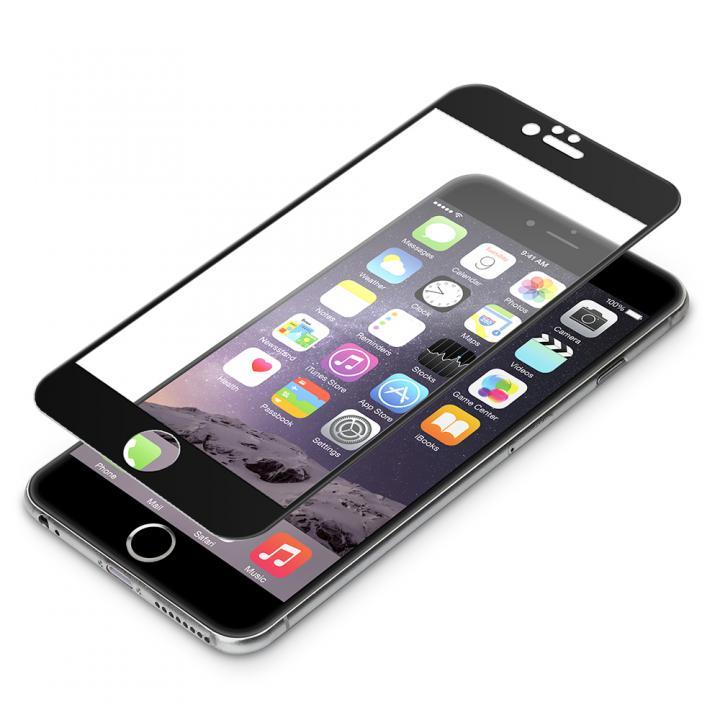 【iPhone6s Plus/6 Plusフィルム】液晶全面保護ガラス ソフトフレーム ブラック iPhone 6s Plus/6 Plus_0