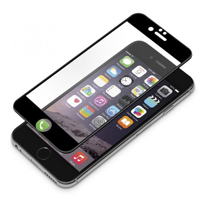液晶全面保護ガラス ソフトフレーム ブラック iPhone 6s/6