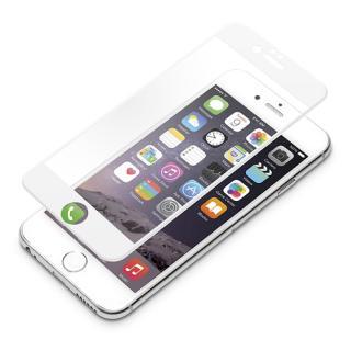 液晶全面保護ガラス ソフトフレーム ホワイト iPhone 6 Plus