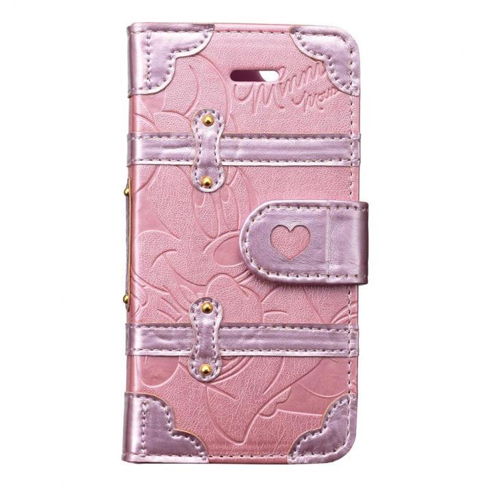 iPhone SE/5s/5 ケース ディズニー プレミアムトランクカバー ミニーデイジー iPhone SE/5s/5/5c 手帳型ケース_0