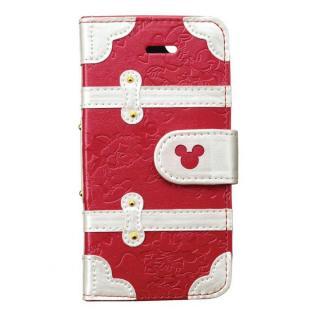 iPhone SE/その他の/iPod ケース ディズニー プレミアムトランクカバー ミッキーミニー iPhone SE/5s/5/5c 手帳型ケース