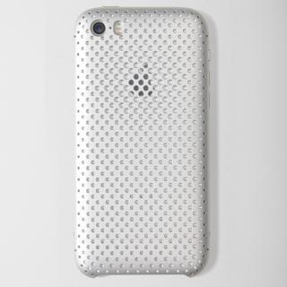 超々ジュラルミンA7075メッシュケース iPhone SE/5s/5 シルバー