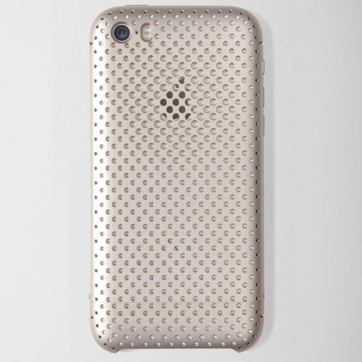 【iPhone SE/5s/5ケース】超々ジュラルミンA7075メッシュケース iPhone SE/5s/5 ゴールド_0