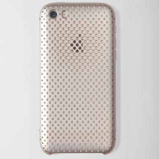 iPhone SE/5s/5 ケース 超々ジュラルミンA7075メッシュケース iPhone SE/5s/5 ゴールド