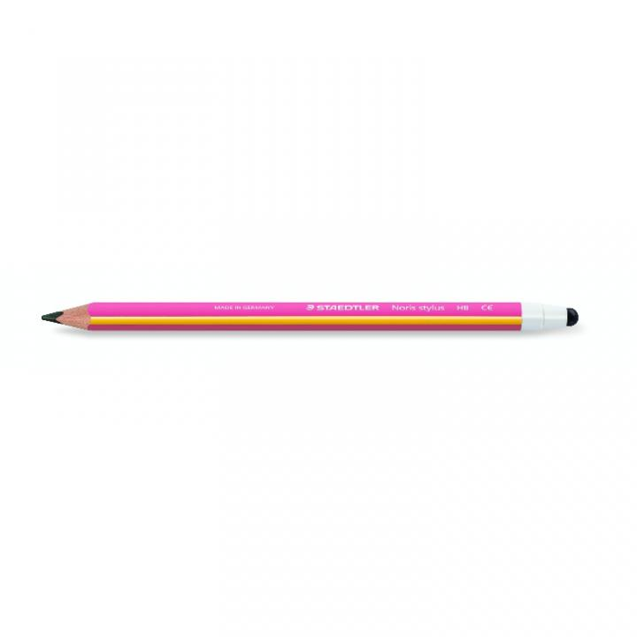 三角形で持ちやすい ステッドラー ノリス タッチペン付き鉛筆 ピンク_0