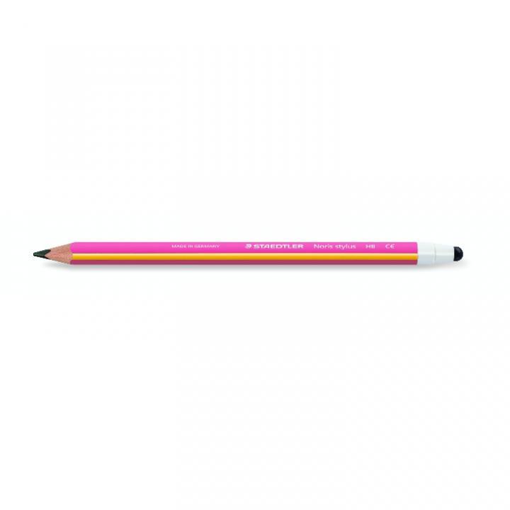 三角形で持ちやすい ステッドラー ノリス タッチペン付き鉛筆 ピンク