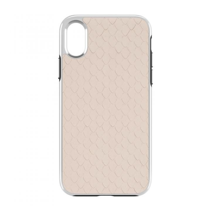 iPhone X ケース Rebecca Minkoff Luxe Double Up Case Snakeskin Inlay Nude Snake iPhone X_0
