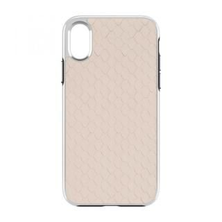 iPhone X ケース Rebecca Minkoff Luxe Double Up Case Snakeskin Inlay Nude Snake iPhone X