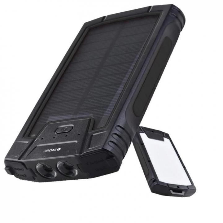INOVA ソーラーモバイルバッテリー ゴツ充 ワイター ブラック_0