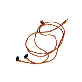 ステレオイヤホンネックレス ハンドキャンディー Leather headphone/Saddle Brown ブラウン