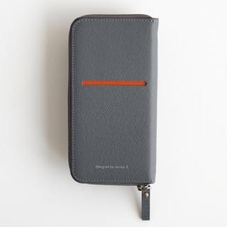 iPhone6 Plus ケース お財布付き手帳型ケース ZIP-Around グレー iPhone 6 Plus