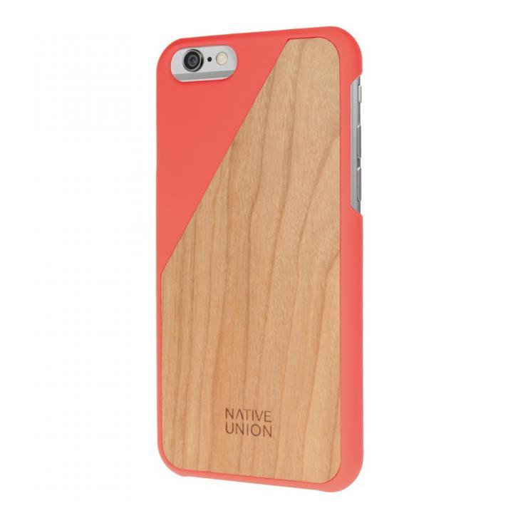ウッド/ラバーケース NATIVE UNION CLIC Wooden オレンジ/チェリー iPhone 6
