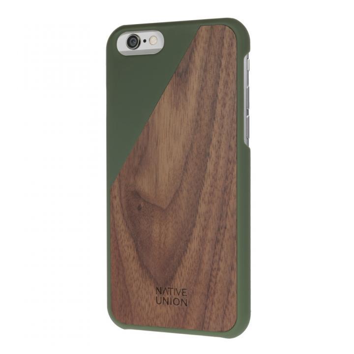 ウッド/ラバーケース NATIVE UNION CLIC Wooden オリーブ/ウォールナット iPhone 6