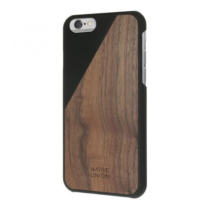 ウッド/ラバーケース NATIVE UNION CLIC Wooden ブラック/ウォールナット iPhone 6