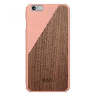 ウッド/ラバーケース NATIVE UNION CLIC Wooden ピンク/ウォールナット iPhone 6 Plus