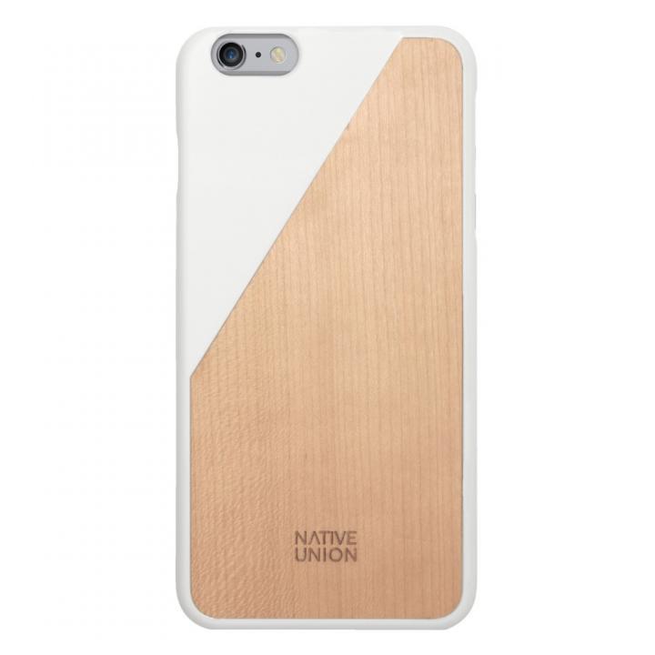 【iPhone6 Plusケース】ウッド/ラバーケース NATIVE UNION CLIC Wooden ホワイト/ウォールナット iPhone 6 Plus_0