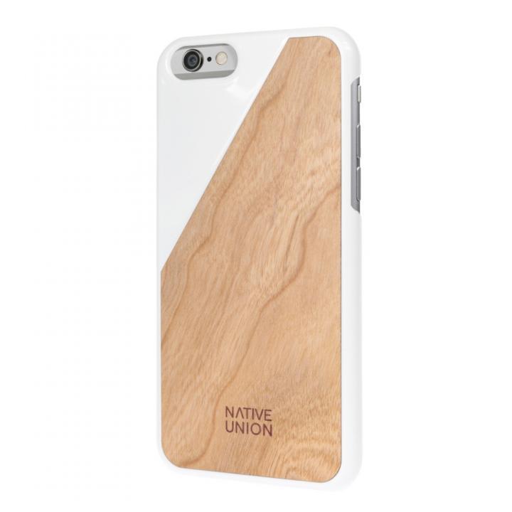 ウッド/ラバーケース NATIVE UNION CLIC Wooden ホワイト/チェリー iPhone 6