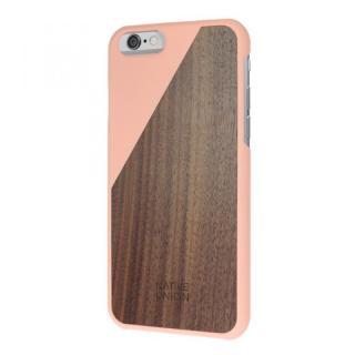 ウッド/ラバーケース NATIVE UNION CLIC Wooden ピンク/ウォールナット iPhone 6
