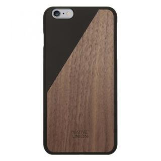 ウッド/ラバーケース NATIVE UNION CLIC Wooden ブラック/ウォールナット iPhone 6 Plus