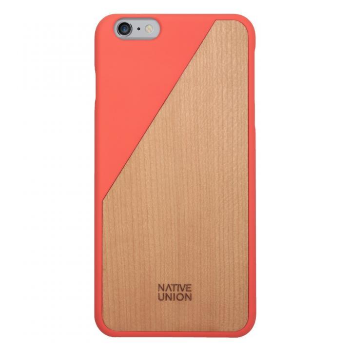 iPhone6 Plus ケース ウッド/ラバーケース NATIVE UNION CLIC Wooden オレンジ/チェリー iPhone 6 Plus_0