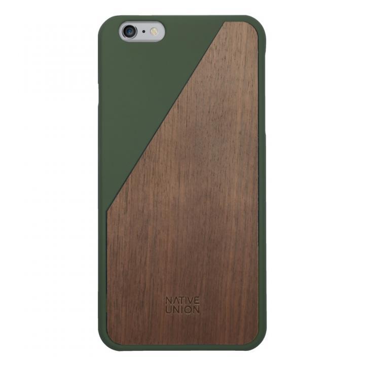 iPhone6 Plus ケース ウッド/ラバーケース NATIVE UNION CLIC Wooden オリーブ/ウォールナット iPhone 6 Plus_0