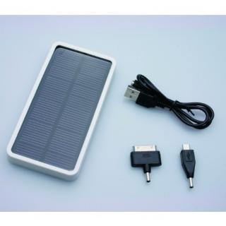 [5000mAh]コンパクトなソーラー充電器 mobile solar ホワイト