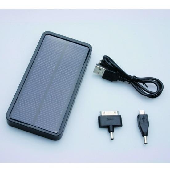 [5000mAh]コンパクトなソーラー充電器 mobile solar ブラック_0