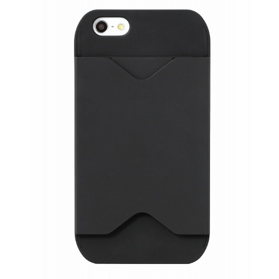 フラッシュパスケース ブラック&ブラック iPhone SE/5s/5ケース