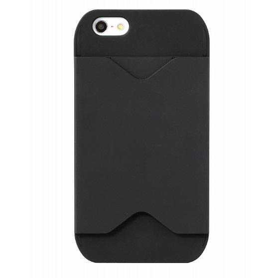 iPhone SE/5s/5 ケース フラッシュパスケース ブラック&ブラック iPhone SE/5s/5ケース_0