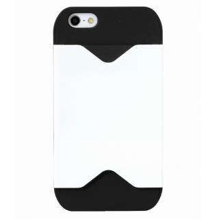 フラッシュパスケース ブラック&ホワイト iPhone SE/5s/5ケース