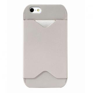 【iPhone SE/5s/5ケース】フラッシュパスケース シャンペンゴールド iPhone SE/5s/5ケース