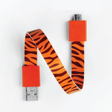 Mohzy Loop USB Cable タイガー Micro USB_0