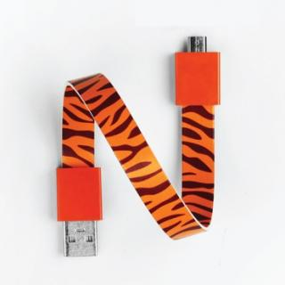 Mohzy Loop USB Cable タイガー Micro USB