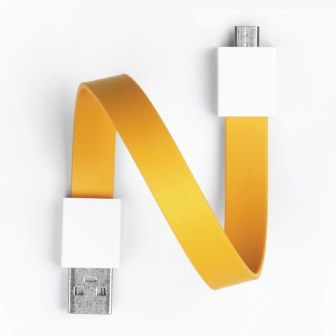 Mohzy Loop USB Cable シトラスイエロー Micro USB
